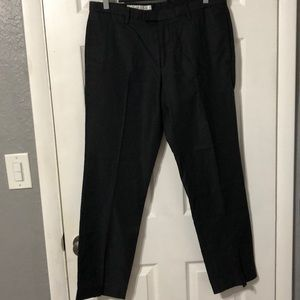 Kenneth Cole slacks black and grey pin stripped